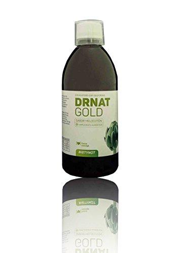 DRNAT GOLD. Jarabe DETOX. Diuretico y drenante. (Alcachofa, Cola de Caballo, Diente de León, Rábano Negro, Ortosifón y L-Carnitina) (500 ml)