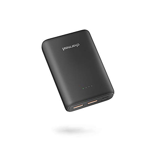 Batterie Externe 10000mAh QC 3.0 18W Quick Charge Power Delivery Mini Power Bank USB C Batterie Portable Compacte avec 3 Sorties et 2 Entrées Compatible avec Gilet Chauffant, iPhone 12/11/X/8/7,Huawei