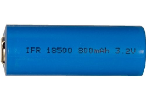 18500 3.2 Volt LiFePO4 Battery (800 mAh)