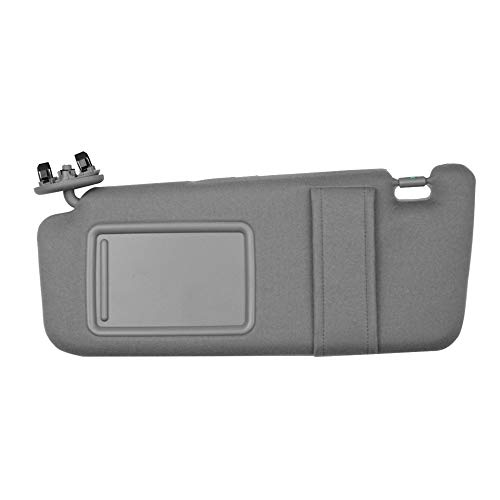 Dasbecan Front Left Sun Visor Compatible with Toyota Camry 2007 2008 2009 2010 2011 Driver Side Sunvisor Replaces# 74320-06780-B0 74320-33B81-B0