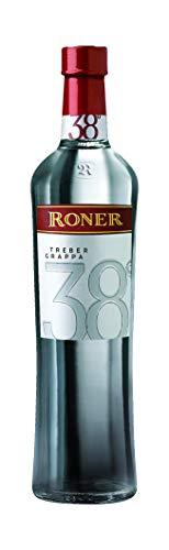 Roner Treber 38% vol. (1x 0,7l) - Grappa tradizionale Distilleria Artigianale Alto Adige Südtirol piu premiata d'Italia - 700 ml