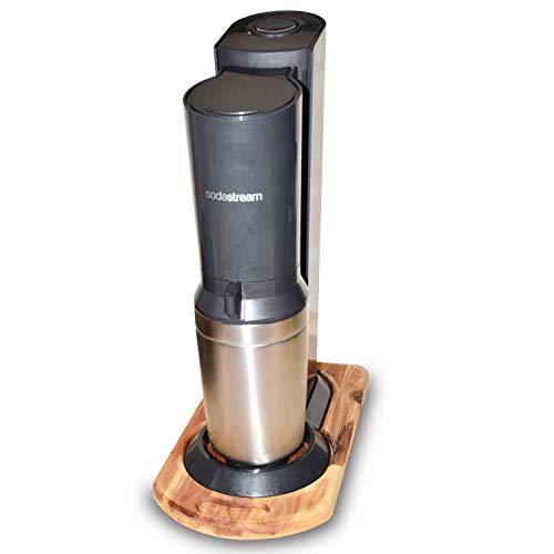 Flausenreich Gleitbrett für Sodastream Wassersprudler - Unterlage mit Griffmulde - Holz (Buche)