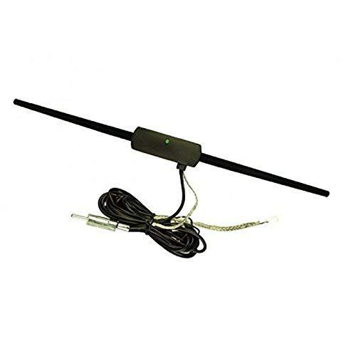 Sound Way Antenna Radio FM Amplificata a Baffo per Autoradio di Auto, Camper, Camion