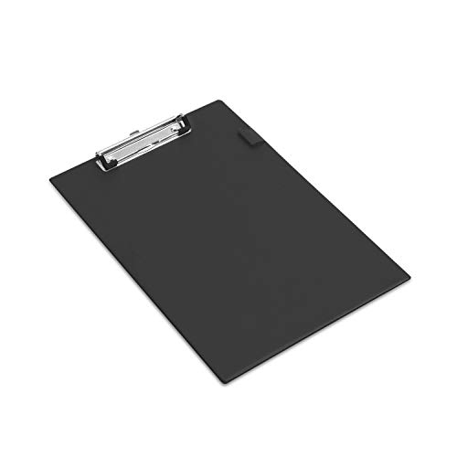 Rapesco - Portapapeles con pinza/clip de seguridad, color negro