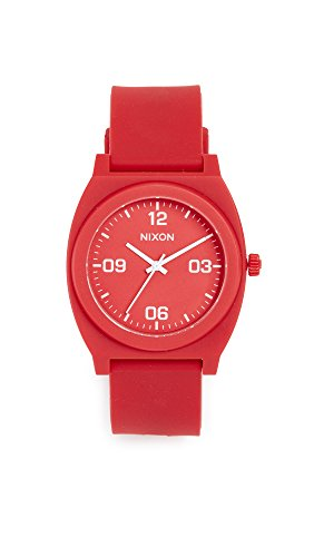 Nixon Men's Time Teller P Corp Watch, 39mm, Matte Red/White, One Size