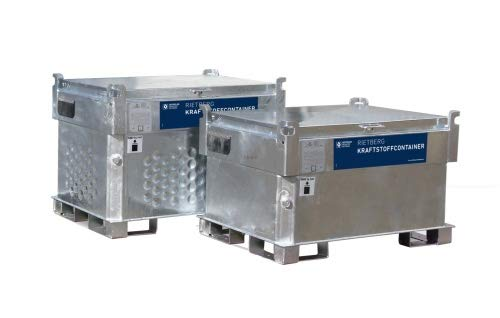 Kraftstoffcontainer Quadro-CV Mobile Tankstelle Rietberg Diesel/Benzin Diesel, Pumpe Elektropumpe 230V, Größe 450 Liter