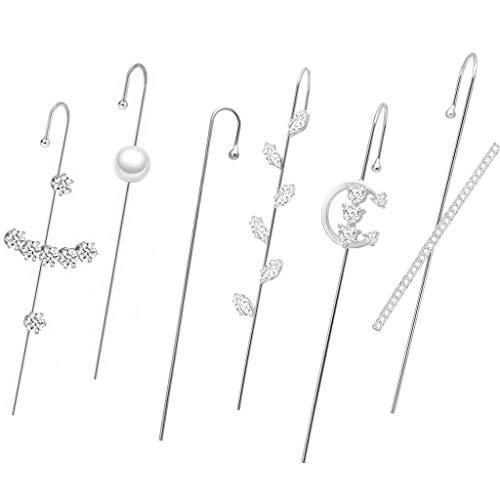 TSBB Elegant Women Golden Ear Cuff Wrap Crawler Hook Orecchini Ear Wrap Orecchini Kit
