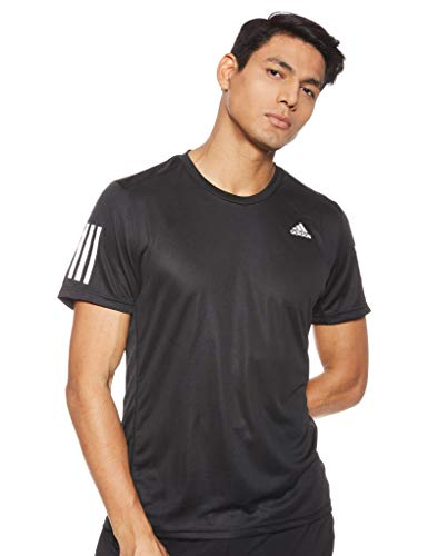 adidas Herren Own The Run T-Shirt, Black/White, M