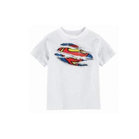 T-Shirt Superman - Superman Torn Logo Enfant Blanc Taille 10 ans