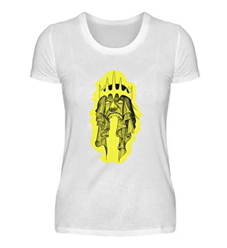 Arkham Re demonico per tablet e giochi di ruolo fantasy, maglietta da donna bianco XXL