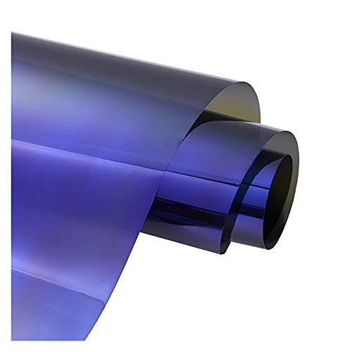 Impetuous 48cm x 3M 19.3% VLT Purple Files Coche Lado Ventana Tinte Películas solares Auto House Casa Comercial Ventana de Cristal Sunshine Protection Foils