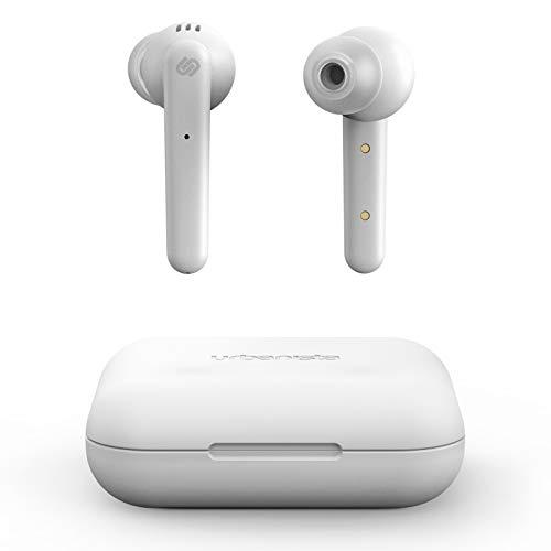 Urbanista Paris True Wireless Kopfhörer 20H, Bluetooth 5.0, Geräuschdämpfende Kopfhörer mit Touchsteuerung + eingebautem Mikrofon, kompatibel mit Android und iOS - Weiß