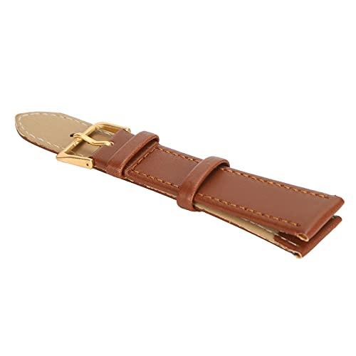 Cinturino per orologio con fibbia ad ardiglione, cinturino per orologio robusto e resistente all'usura, pratico per l'uso professionale per la sostituzione dell'orologio per uso generale(18mm marrone)