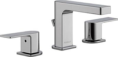 Peerless Xander Widespread Bathroom Faucet Chrome, Bathroom Faucet 3 Hole, Bathroom Sink Faucet, Drain Assembly, Chrome P3519LF