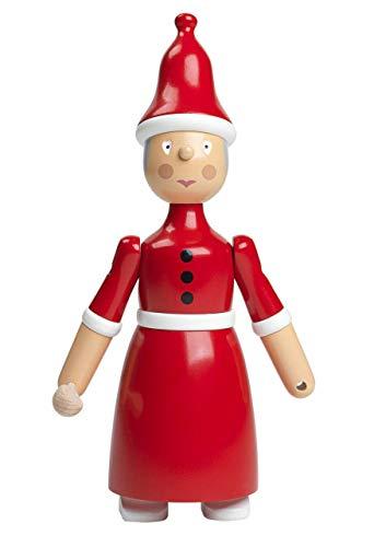 Kay Bojesen Weihnachtsfrau Weihnachtsfraufigur, Buchenholz, rot, Höhe: 20 cm Breite: 10,4 cm Länge: 5,8 cm