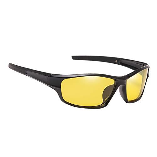 lahomia Gafas de sol polarizadas deportivas, gafas de ciclismo irrompibles para hombres y mujeres para correr, gafas de pesca, Protector de ojos - Amarillo