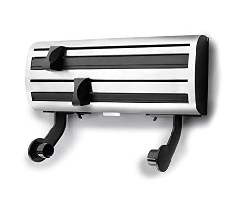 Dispensador 3 en 1 - Dispensador Film, Papel Aluminio, Papel de Cocina - 2 cuchilas de Corte