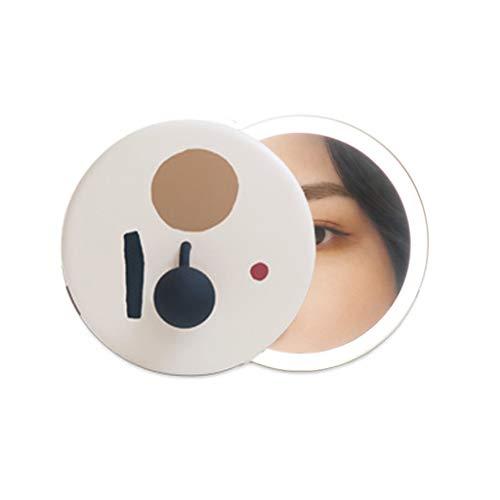 Mirror Miroir De Maquillage/Miroir De Coiffure/Miroirs Cosmétiques À Poser Mini Miroir De Poche LED