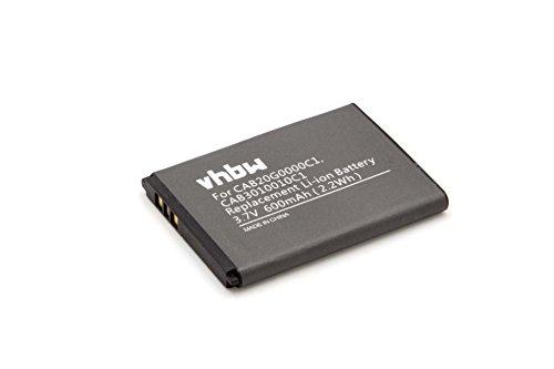 vhbw Li-Ion Akku 600mAh (3.7V) für Handy, Smartphone, Handy Alcatel One Touch OT-280, OT-505, Mini, Gyari, Vodafone 331, 541 wie CAB3010010C1.