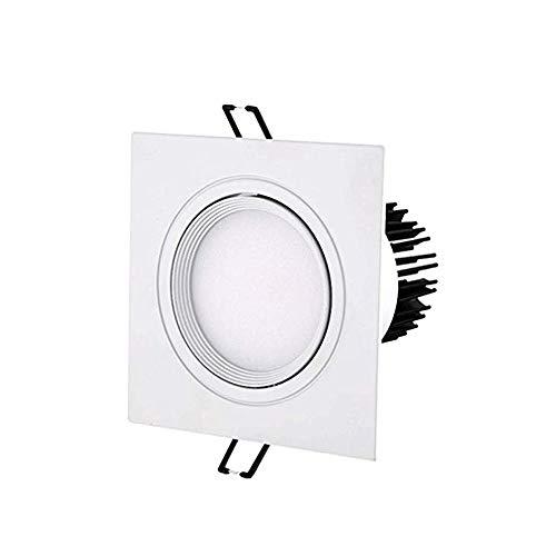 Panel de aluminio LED Downlight Ultra-delgado Cuadrado Blanco Empotrado Lámparas de techo Ángulo antirreflejo Ajustable Tienda Centro comercial Ahorro de energía Lámpara de techo plana Iluminación de