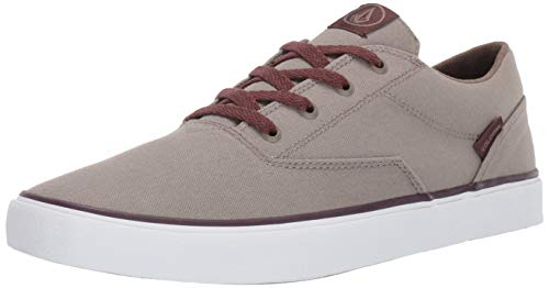 Volcom Mens Skate Shoe Herren Draw Lo Canvas Vulcanized Skateschuh, Oxford Tan, 43 EU