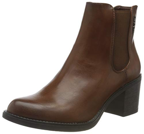Tom Tailor Womens 9096002 Ankle Boot Bootie Boot, Cognac, 6.5 UK