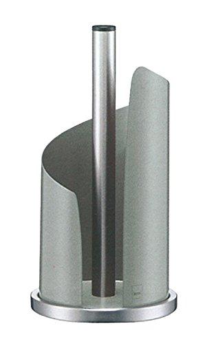Kela 11203, Küchenrollenhalter Stella, Edelstahl/Metall, 15 cm Durchmesser, Hellgrau