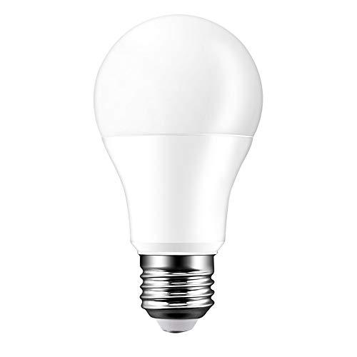 Donpow Wifi Bombilla LED E27 15W Bombilla WiFi Bombilla de control remoto Bombilla LED regulable Compatible con Alexa Google Home