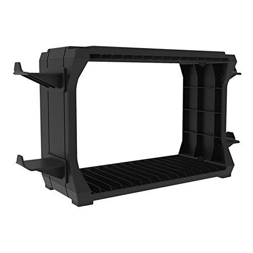 Blesiya ブラック保存スペース15ゲームディスクタワー垂直ラックスタンドホルダー陳列棚PS5、品質のabs材料