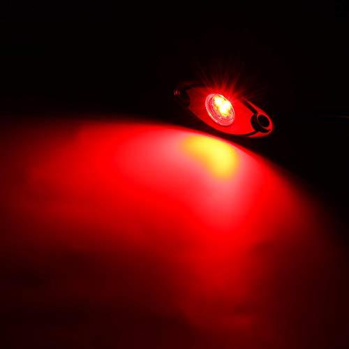 LICHONGUI 8 stücke LED Deck Bottom Lichter Atmosphäre Dekoration Lampen Offroad Auto Truck Boat Camper SUV 6000K Wasserdicht (Color : Red)