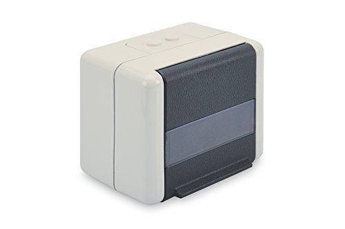 DIGITUS Daten-Anschlussdose - Outdoor Netzwerk-Dose - Für 2 Keystone-Module - Klapp-Deckel - IP44 - Aufputz