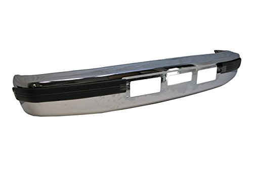 Bundle for 92-97 F150 F250 F350 Diesel Front Bumper Chrome Face Bar Outer Pad 3P FO1002254 FO1058271 FO1059271