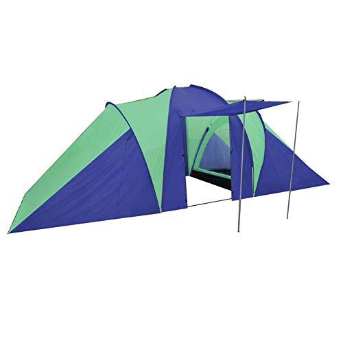 lahomia - Tienda instantánea de camping Pop-Up impermeable y resistente, tienda de camping para 6 personas, azul marino/verde