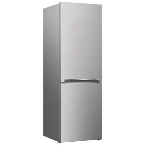 frigorifero Beko RCSA330K20S, colore grigio con le seguenti misure 185x60x60 con maniglia integrata, profilo acciaio, con guarnizione antibatterica, numeri ripiani vano frigo 3