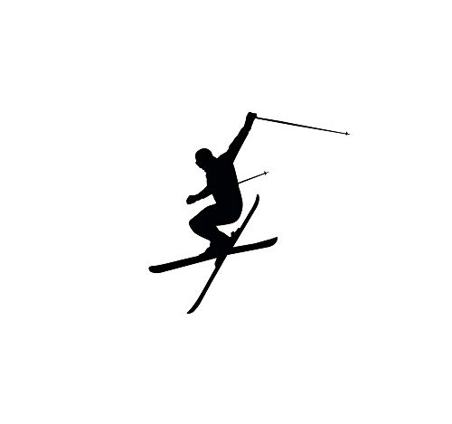 Wall Decal Vinyl Sticker Downhill Skiing Skier Ski Snow Freestyle Jumping Extreme Sports Wall Decals...