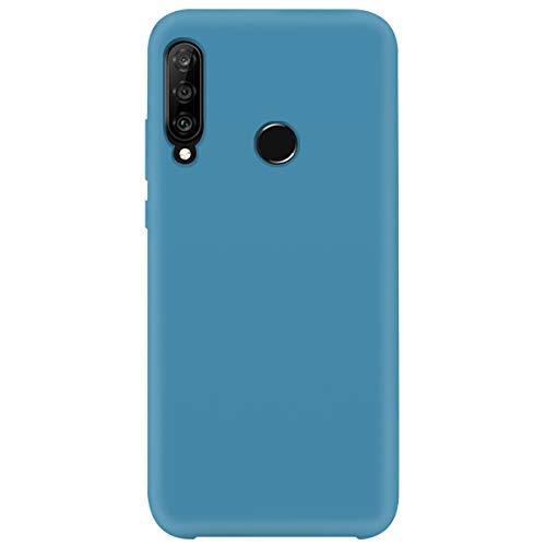 2Buyshop Compatibel met Huawei P40 lite E hoes, vloeibare siliconen Soft TPU beschermhoes ultra dun telefoonhoesje stootvast anti-kras anti-slip telefoonhoesje voor Huawei P40 Lite E case, Huawei P40 lite E, denim blue