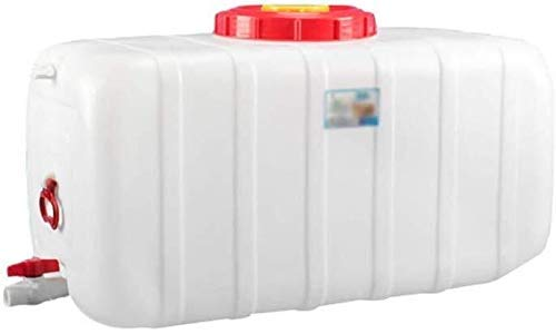 QIN.J.FANG-MY High Capacity 200L Rectangular Water Storage Container with Lid and Handle, White Water Tank with Faucet, Home, Outdoor, Agriculture, Industrial, Rainwater Collection Bucket