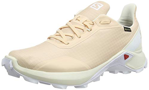 Salomon Damen Trail Running Schuhe, ALPHACROSS GTX W, Farbe: beige (bellini/vanilla ice/white) Größe: EU 39 1/3