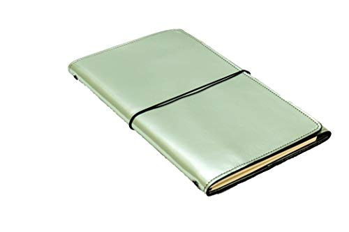 LOUISE CARMEN(ルイーズカルメン) 手帳 ノートカバー フランス製 高級本革 手作りA6スリムサイズ ポケットサイズ パステルグリーン