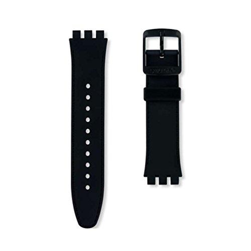 Correa silicona negra reloj Swatch Sistem Chic ASUTB402 19mm