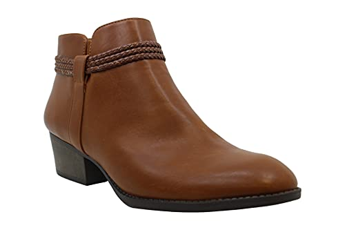 Style & Co. Womens Fellicity Ankle Booties, MED Brown, Size 5.0
