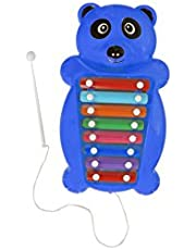 Aarushi Pull and Tune Blue Plastic Panda Xylophone Kids Musical Toy 37 cm (Color May Very)