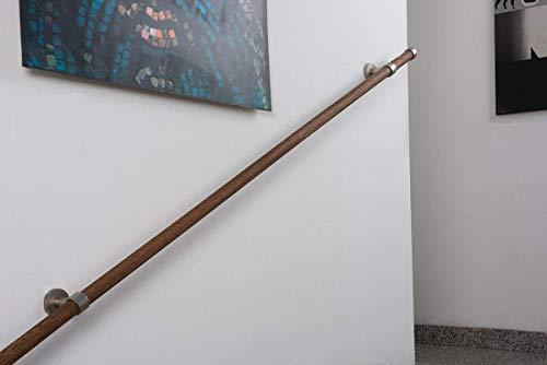 Pasamanos InCasa: diámetro 28 mm, L.300 cm. en Madera flujo 80 kg - Completo