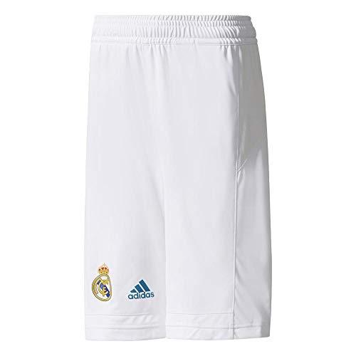 adidas RM Y Pantalón Corto Línea Real Madrid FC, Niños, Blanco, 164