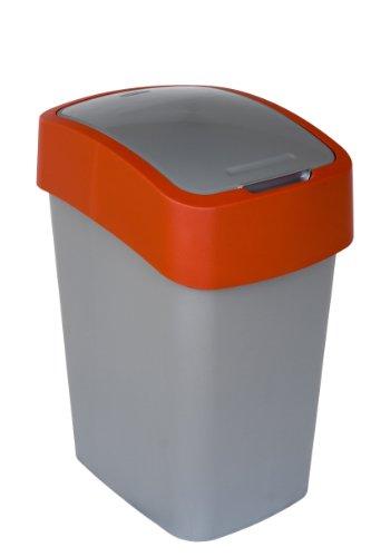 CURVER Abfallbehälter, Silber/Rot