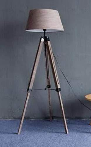 Stehlampe LGFSG Einfache und Vintage Standard Lampeneinstellung Import Massivholz Schalter Stoff Stehleuchte für Wohnzimmer, Kaffee Lampenform 5