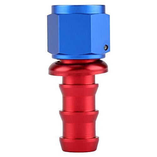 Eindstuk voor olieslang, Akozon AN10 Recht 45 90 180 Graden Druk op Draaislot Olie Gas Brandstofleiding Slanguiteinde Mannelijke koppeling voor stookolie Koelvloeistof en lucht(0°)
