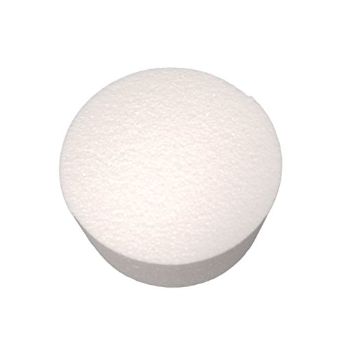 "Smooth and Durable Foam Cake Dummies 3"" Height and 6"" Diameter Perfect for Cake Decorating by MT Products (2 pieces)"