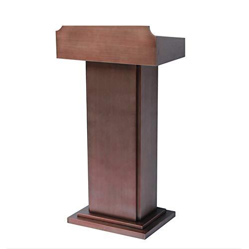 XuZeLii Rednerpult Edelstahl Katheder Kirche Kanzel Oder Ceremony Lecture Speech Teach-Plattform Stehen Geeignet zum Predigen und Sprechen (Color : Brown, Size