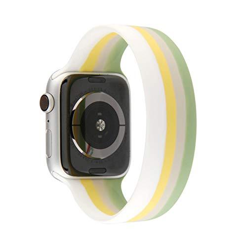 Bucle individual de silicona colorida para correa de reloj de manzana 44 mm 40 mm serie 6 SE 5 4 correa de pulsera de cinturón elástico para iWatch 4 5 SE 6 correa